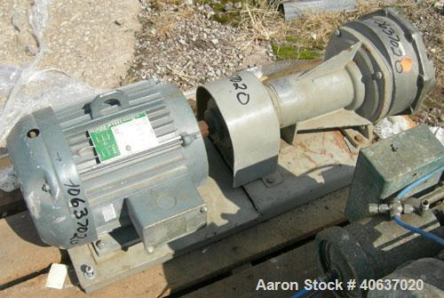 """Used- NashLiquidRingVacuumPump,size AHF-75/SS,316 stainless steel. Approximate capacity 60 cfm at 15"""" to 20"""" H.G.Appr..."""