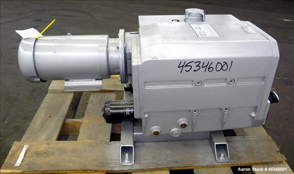 Used- Carbon Steel Airtech L Series Oil Lubricated Rotary Vane Vacuum Pump, Type L-230-G1
