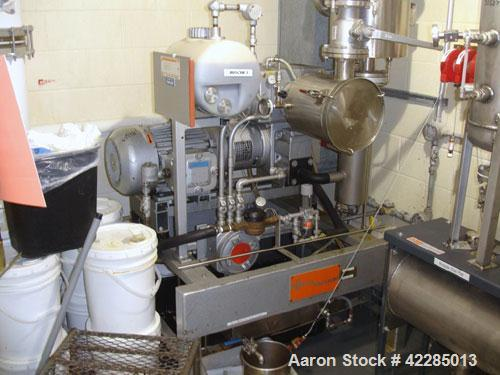 Used- Busch Huckepack Two Stage Rotary Vane Vacuum Pump, Model 433.002. Rated 175 cfm at 0.5 Torr, with a 15 hp, 575 volt XP...