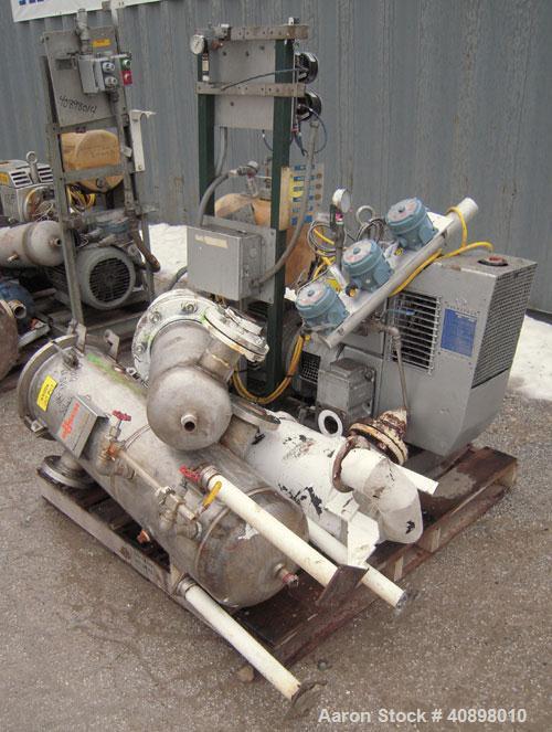 Used- Busch Huckepack Two Stage Rotary Vane Vacuum Pump, Model 433:013