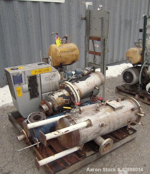 Used- Busch Huckepack Two Stage Rotary Vane Vacuum Pump, Model 433:014