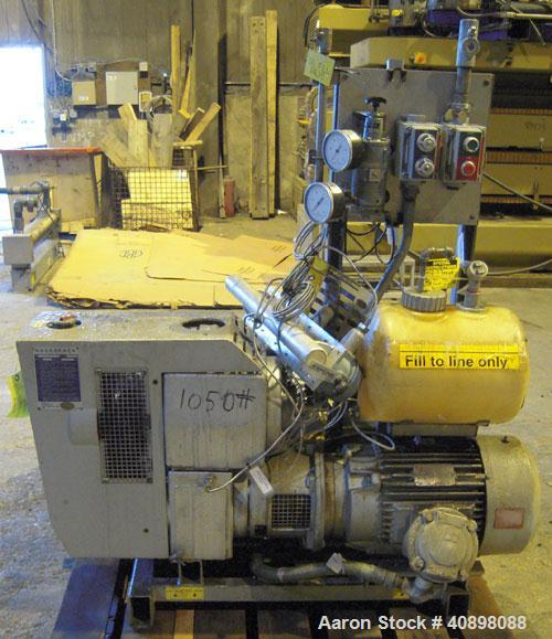 Used- Busch Huckepack Two Stage Rotary Vane Vacuum Pump, Model 433:014. Rated 176 cfm at .5 Torr, with a 15 hp, 460 volt mot...