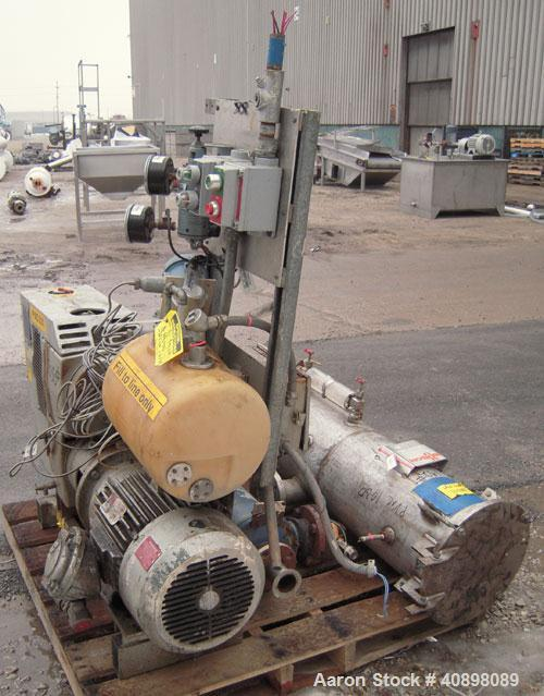 Used- Busch Huckepack Two Stage Rotary Vane Vacuum Pump, Model 433:014. Rated 176 cfm at .5 Torr, with a 15 hp, 3/60/460 vol...