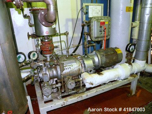 Used-Busch Single Stage Cobra Dry Screw Vacuum Pump, Model AC0400FBT6.000H, Carbon Steel. Rated 262 cfm, 0.05'' Torr., direc...