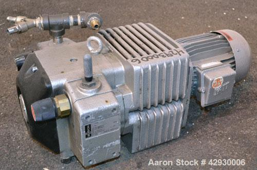 Used- Busch Dry Running Rotary Vane Vacuum Pump, Model DC0040B003LCXX, Carbon Steel. Approximate  28 CFM. Driven y a 2.2 kw ...