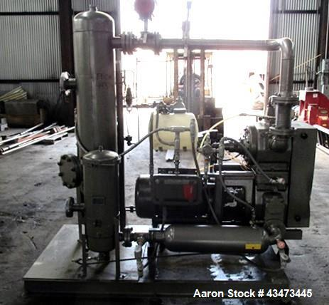 Used- Busch Huckepack Vacuum Pump, Model HO437-D8095. Rated 282 cfm at 0.5 Torr, driven by 20hp, 230/460 volt XP motor. Skid...