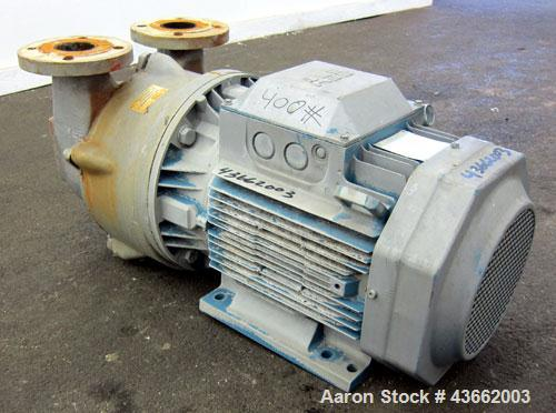 Used- Busch Single Stage LX Series Dolphin Liquid Ring Vacuum Pump, Model LX0430A-AKO-MR-I-X, Carbon Steel. Rated 455 cubic ...