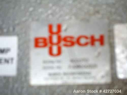 Used- Carbon SteelBusch Single Stage Cobra Dry Screw Vacuum Pump, Model NC0070