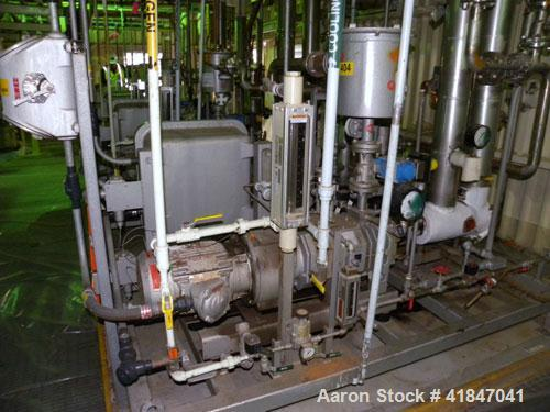 Used- Carbon Steel Busch Single Stage Cobra Dry Screw Vacuum Pump, model NC0070ABM6.000F