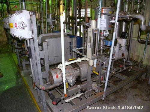 Used- Busch Single Stage Cobra Dry Screw Vacuum Pump, model NC0070ABM6.000F, carbon steel. Rated 58 cfm, 0.075 Torr., air co...