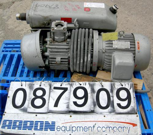 """USED: Busch single stage, oil sealed, rotary vane vacuum pump, model R00160-13032-1001, carbon steel. Rated 117 cfm, 20.6"""" h..."""