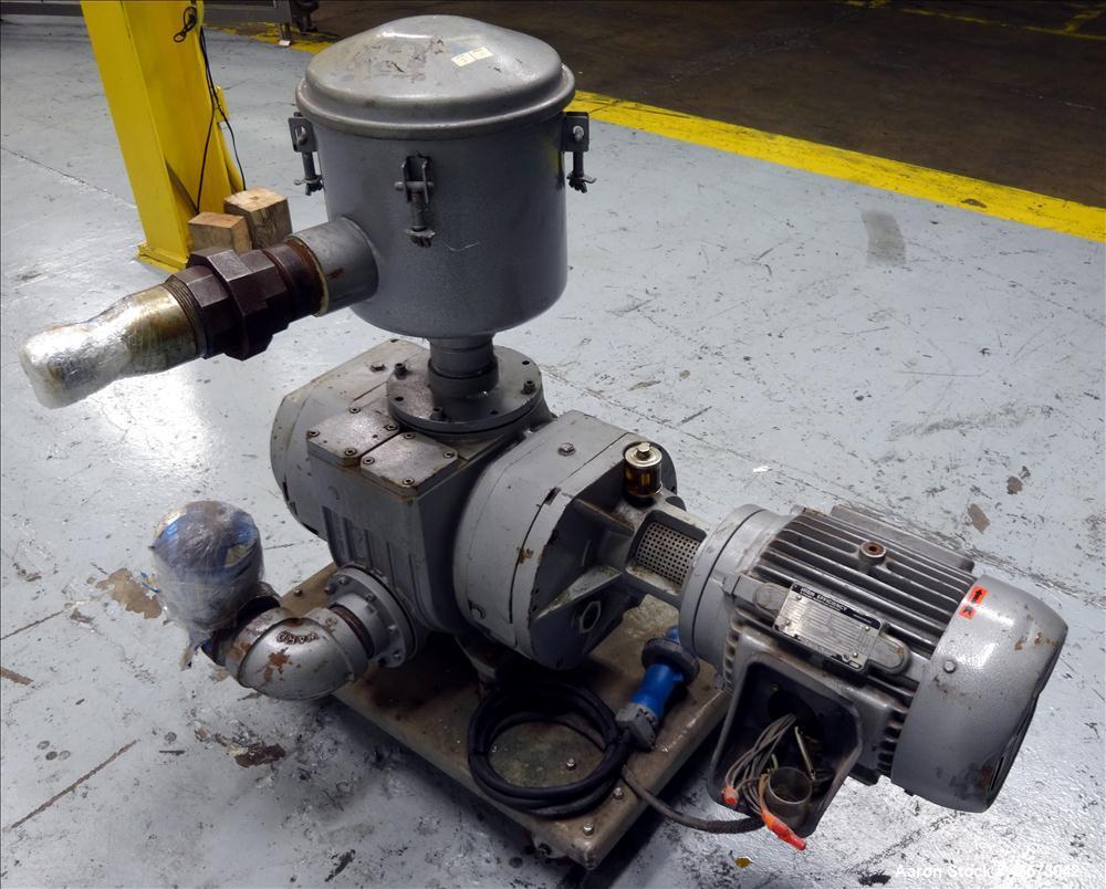 Used- Busch Panda Rotary Lobe Vacuum Booster. 1060 CFM. Model WV 1500. Carbon steel construction. Has 7.5 HP Toshiba Motor, ...