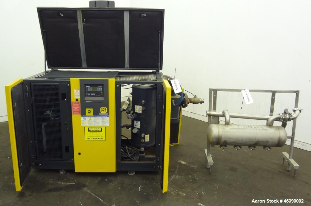 "Used- Kaeser Rotary Screw Vacuum Package, Model ASV 40. Rated 168 ACFM at 10"" HGV, 14.5 psia, air cooled. Driven by a 7.5kw ..."