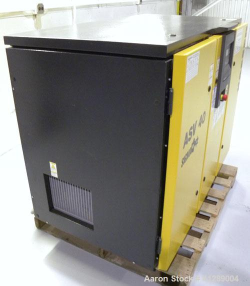 "Used- Kaeser Rotary Screw Vacuum Package, Model ASV 40. Rated 168 ACFM at 10"" HGV. Air cooled. Driven by a 7.5 kw (10 hp), 3..."