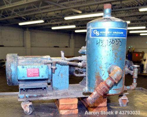 Used- Carbon Steel Kinney 2 Stage Liquid Ring Vacuum Pump, Model KLRC-40S