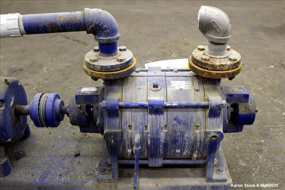 """Used- Kinney Liquid Ring Vacuum Pump, Model KLRC-75-KBA, Carbon Steel. Approximately 75 CFM at 1750 rpm. 1-1/2"""" Inlet/outlet..."""