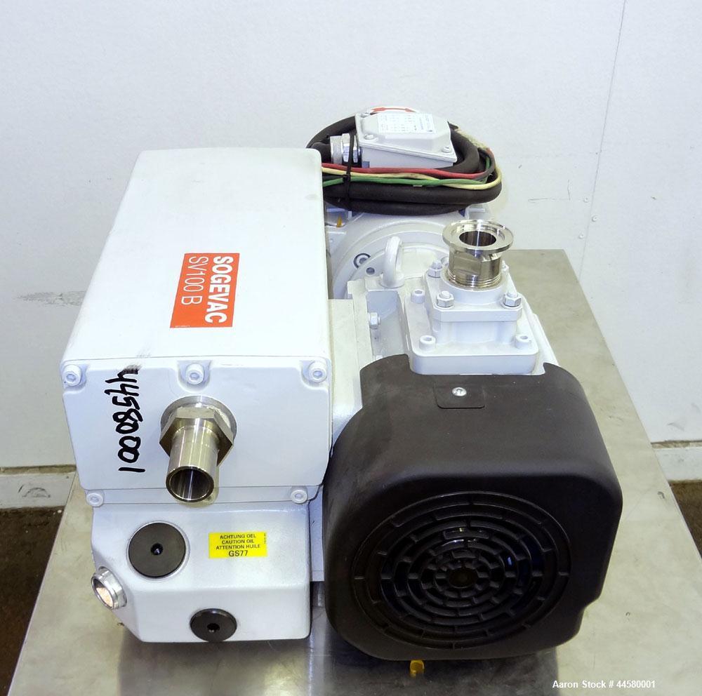 Unused- Carbon Steel Leybold Sogevac B Oil Sealed Single Stage Rotary Vane Vacuu