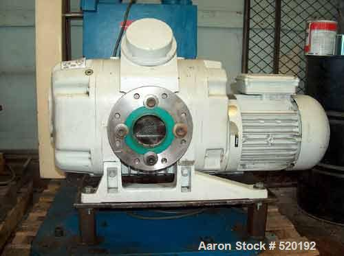 USED: Leybold Ruvac WSU 1001 roughing pump backed up by a 10 hp Hull two stage rotary vacuum pump. The Hull HC-150 generates...