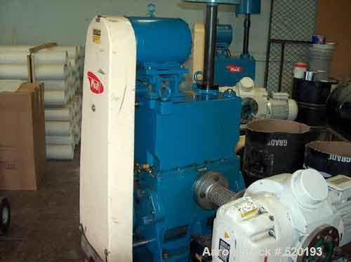 USED: Leybold Ruvac WSU 1001 roughing pump backed up by 10 hp Hull two stage rotary vacuum pump. The Hull HC-150 generates 1...