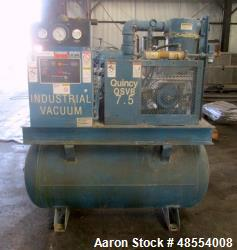 Used- Quincy Vacuum Pump, Model QSVB7.5WNN3C.