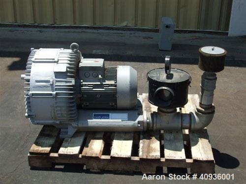 Used-Nash-Elmo Vacuum Pump, Series G-200, Model 2BH1910-7HH36. Single stage, 440 mbar, 23 kW, 220/480 volt, 60 hz motor.