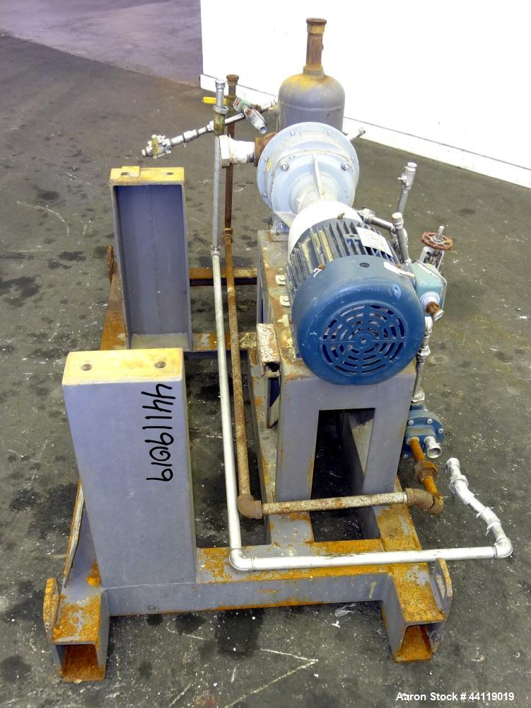 Used- Nash Liquid Ring Vacuum Pump, Size AHF-80, 316 Stainless Steel. Flow rate of 2 Gallons per minute, approximate 72 cfm....