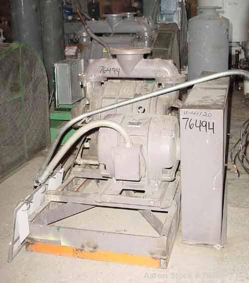 "Used- Nash Liquid Ring Vacuum Pump, Model CL-1002, Cast Iron. Capacity 1060 cfm at 15"" hg/870 cfm at 26"" hg. 5"" Inlet, 4"" ou..."