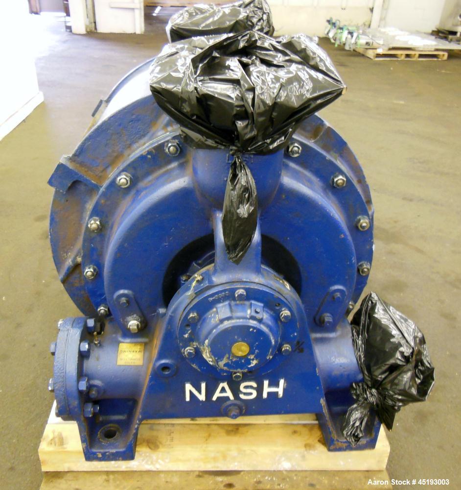 Used- Carbon Steel Nash Elmo Liquid Ring Vacuum Pump, Model CL-2001