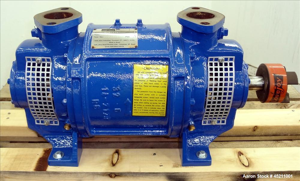Used- Carbon Steel Nash Elmo CL Liquid Ring Vacuum Pump, Model CL-202/4