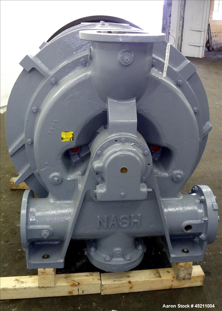 Used- Carbon Steel Nash Liquid Ring Vacuum Pump, Model CL-4002