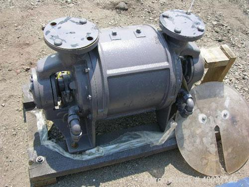 Used- Nash Liquid Ring Vacuum Pump Body, Type CL403, carbon steel construction, 400 cfm, 1170 rpm, test #82U-3383.