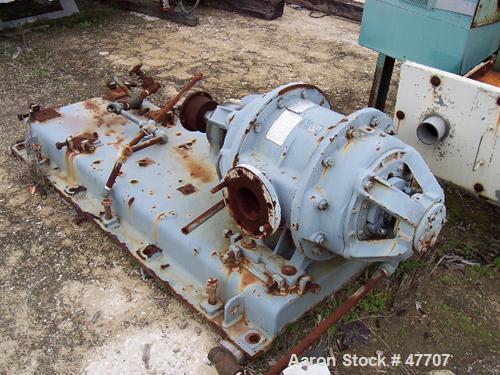 """Used- Nash Liquid Ring Vacuum Pump, Model H 6, Carbon Steel. 4"""" x 4"""". Nominal capacity 500 cfm."""