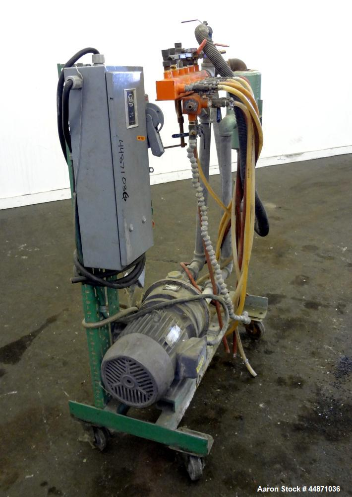 Used- Nash Liquid Ring Vacuum Pump, Size MHF-80, Carbon Steel.  Approximately 70 cfm.  Driven by a 5 hp, 3/60/230/460 volt, ...