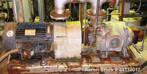 Used- Nash Liquid Ring Vacuum Pump, Model SC-3, 316 Stainless Steel. Approximate 300 cfm. Driven by a 25hp, 3/60/230/460 vol...