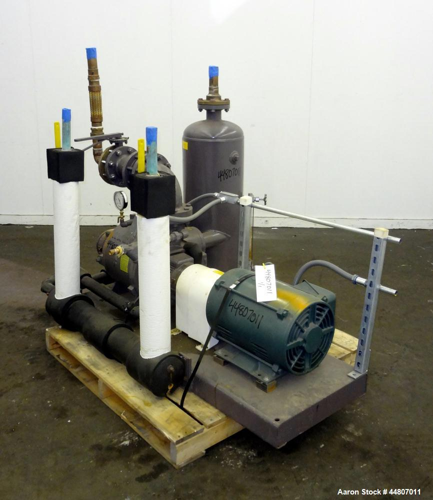 "Used- Nash Liquid Ring Vacuum Pump, Size SC4/7, Carbon Steel.  Flow rate of 10 gallons per minute, 25 to 28"" Hg vacuum, appr..."