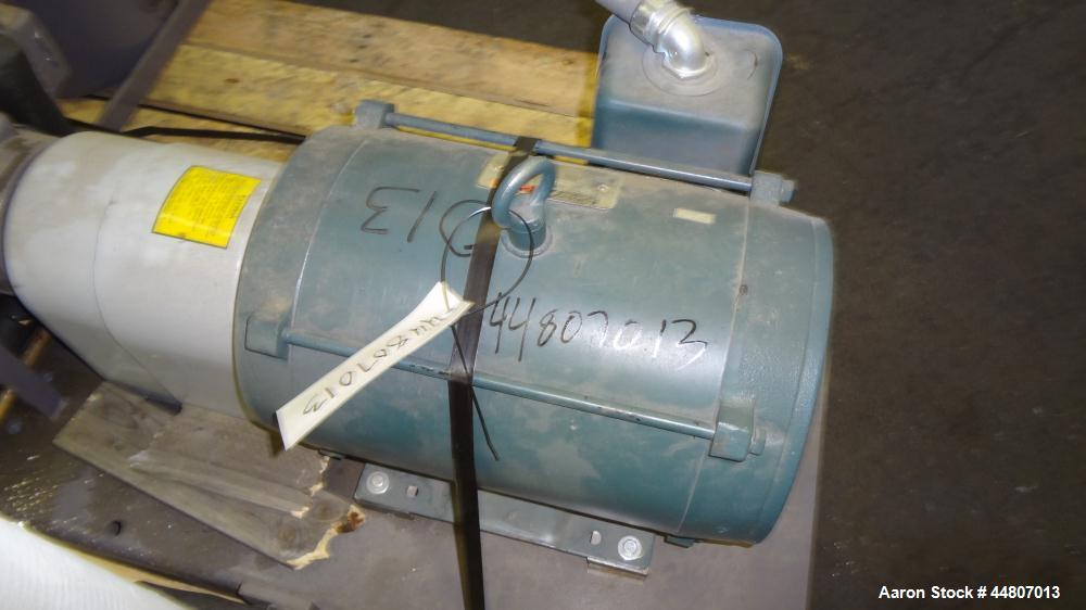 """Used- Nash Liquid Ring Vacuum Pump, Size SC4/7, Carbon Steel.  Flow rate of 10 gallons per minute 25 to 28"""" Hg vacuum, appro..."""
