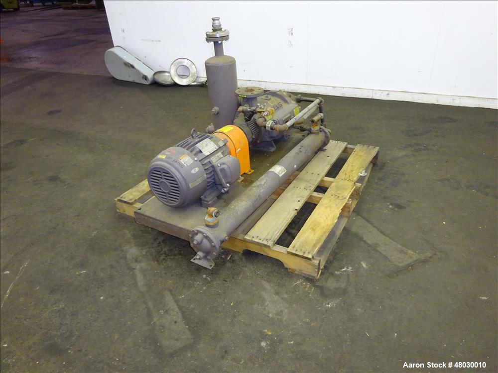 Used- Nash Two Stage Liquid Ring Vacuum Pump, Model TCM1/7, Carbon Steel.