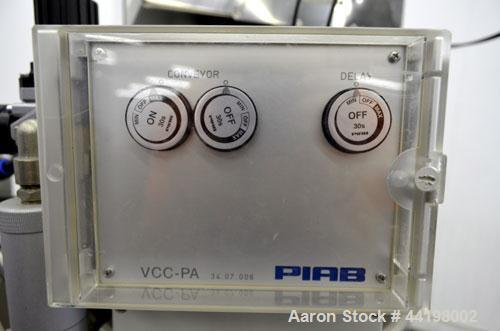 Used- PIAB Vacuum conveying system consisting of: (1) PIAB Air Driven Maxi Vacuum Pump, Model MLL800 MKI, approximate 119 SC...