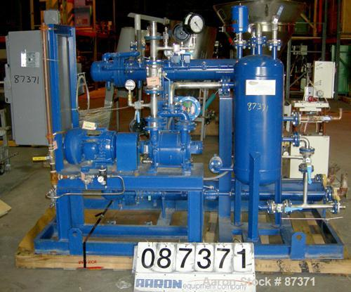 USED: Pro Flow vacuum system, designed for nitrogen removal fromcompounding tanks. Consists of (1) Sihi vacuum pump, model L...