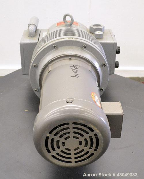 Unused- Rietschle Rotary Vane Vacuum Pump, Type VFT-80, Carbon Steel. Approximately 56 cfm. Driven by a 5 hp, 3/60/208-230/4...