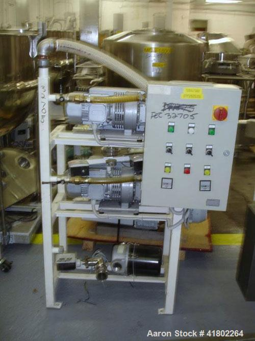 Used- Rietschle Vacuum Pump System, Consisting of: (2) Rietschle Model VPC60 rotary vane vacuum pumps, 2.4 hp each, 277/400 ...