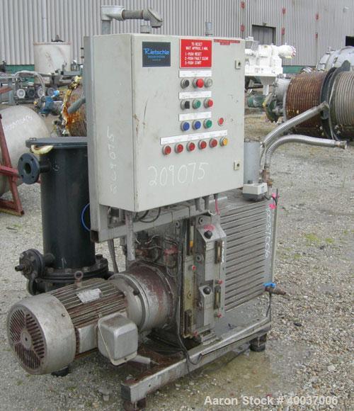 Used- Rietschle Oil Seal Vacuum Pump, Type VWZ402-16M