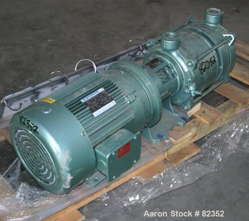 "Unused-UNUSED: Robuschi liquid ring vacuum pump, model RVA902, carbon steel. 2"" NPT inlet/outlet. Driven by a 7.5 hp, 3/60/2..."