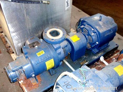 "Used- Nash Liquid Ring Compressor, Model SC2/7, carbon steel. Rated up to 200 cfm and 28"" of vacuum. 3"" inlet, 2"" outlet. Dr..."