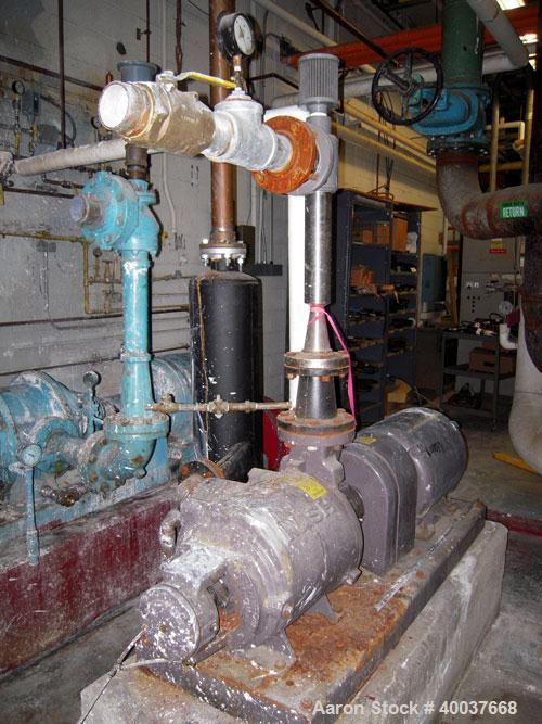 Used- Nash Compressor, Model SC5, test #92U1218, driven by a 30 hp, 3/60/230/460 volt, 1175 rpm motor.