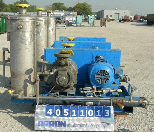 "Used- Nash Single Stage Liquid Ring Vacuum Pump, size SC6SS, stainless steel. 11 1/4"" O.D. flanged inlet with a 5 3/4"" x 5 3..."