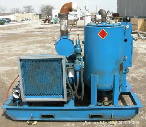 "Used: Scales Air Compressor Corp Rotary Screw Vacuum Pump, Model SVSD-40.  Air cooled, 550 ACFM,  4"" inlet/outlet.  Rated 29..."