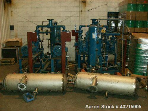 Used-Sihi Vacuum Pump Skid, 9-PU-53A/B. Liquid ring, model LPHR 50518 BN117020. Motor 15 hp, 1765 rpm, 254T frame, 330/575 v...