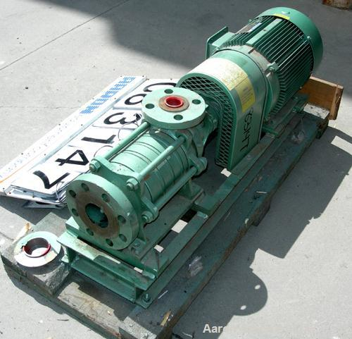 "USED: Sihi Self-Priming Side Channel Vacuum Pump, model CEHQ-3603, carbon steel. Approximate capacity 52 cfm at 1450 rpm. 2""..."
