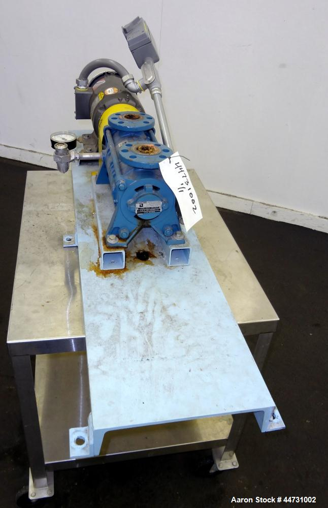 "Used- Sihi Liquid Ring Vacuum Pump, Model LPHA 25007 BN139010, Carbon Steel. 1-1/4"" Inlet/outlet. Approximately 31 cfm at 20..."